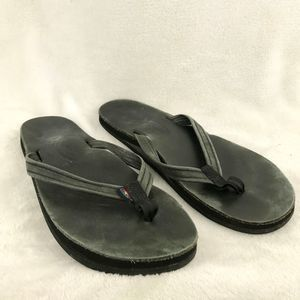 Rainbow Women's M (6.5 to 7.5) Black Flip Flops